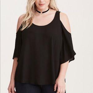 Torrid black chiffon blouse